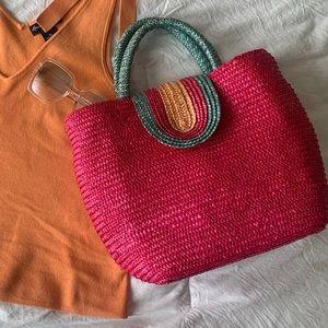 Pink Blue & Orange Boho Shoulder Bag